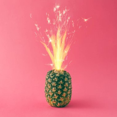 Pineapple with party cake sparkles