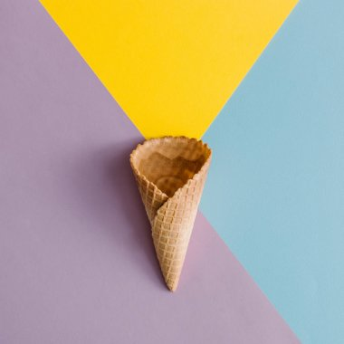 empty ice cream cone