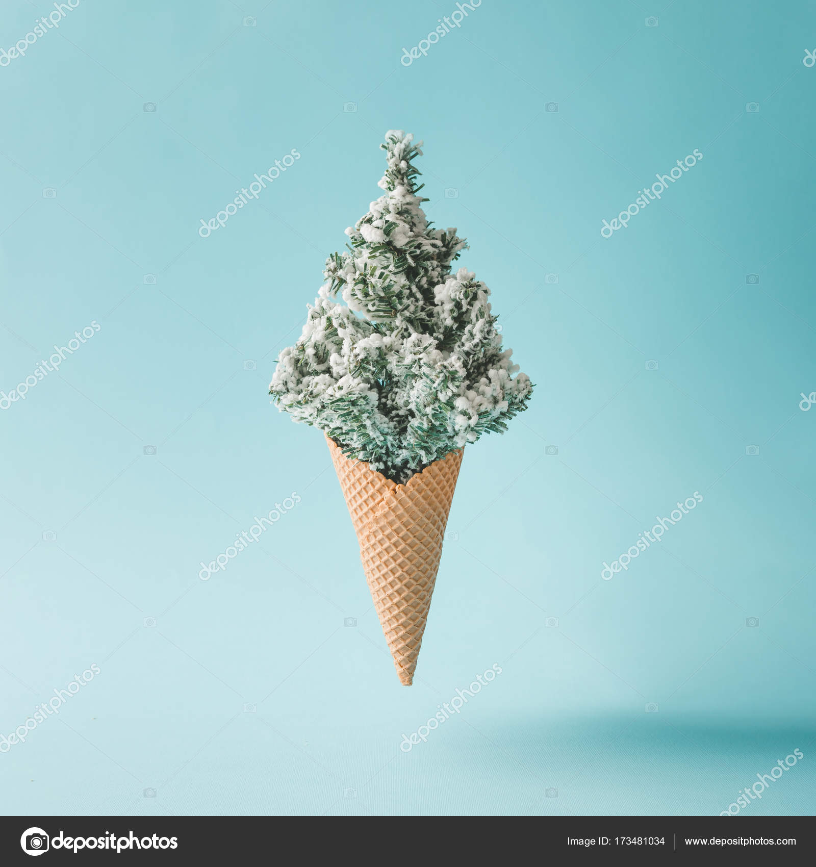 Christmas Tree In Ice Cream Cone Stock Photo Image By C Zamurovic 173481034