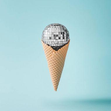 Disco ball in ice-cream cone