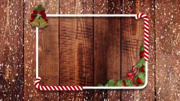 Christmas decoration frame with snow