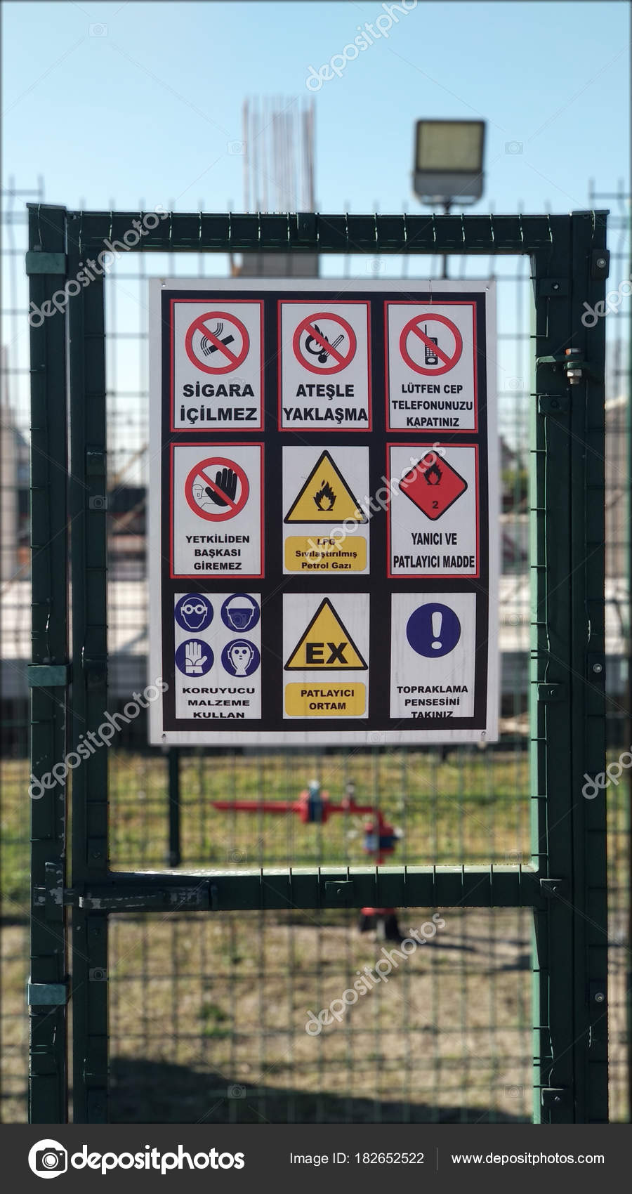 Gas Station Warning Signs – Stock Editorial Photo