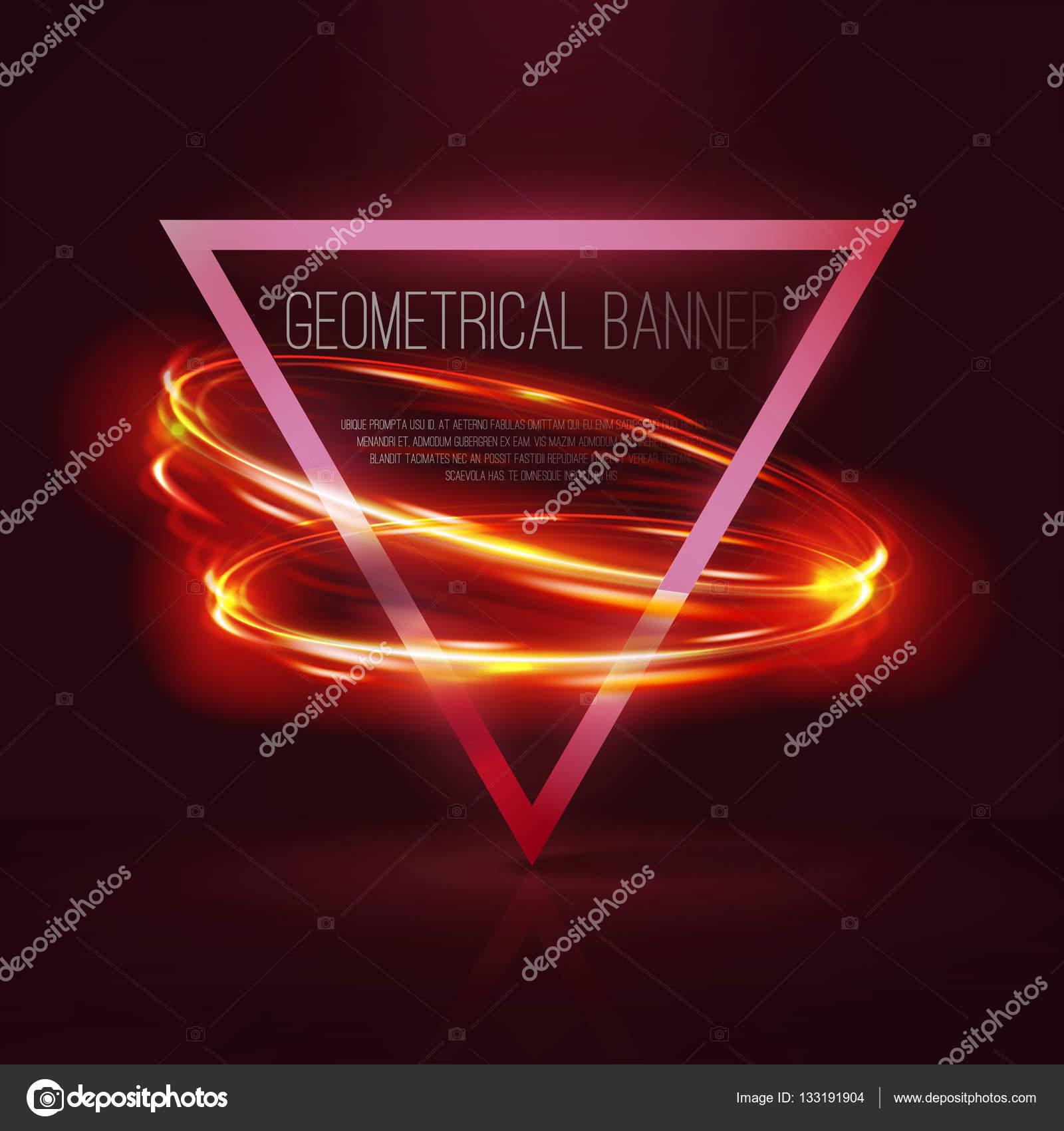 Geometrische banners met neon verlichting — Stockvector © Arttools ...