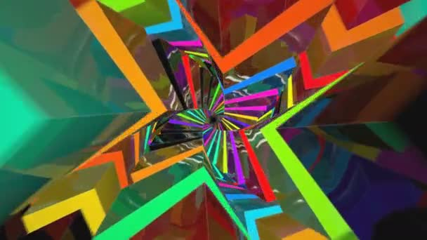Colorful Tunnel Flythrough Loop in 4K UHD