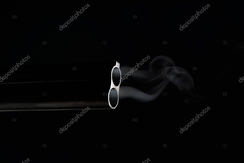 dvojité barel kouření zdarma mokré černé kočička pic