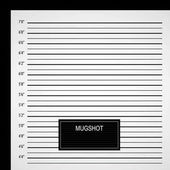 Polizei-Aufstellung oder Mugshot-Hintergrund