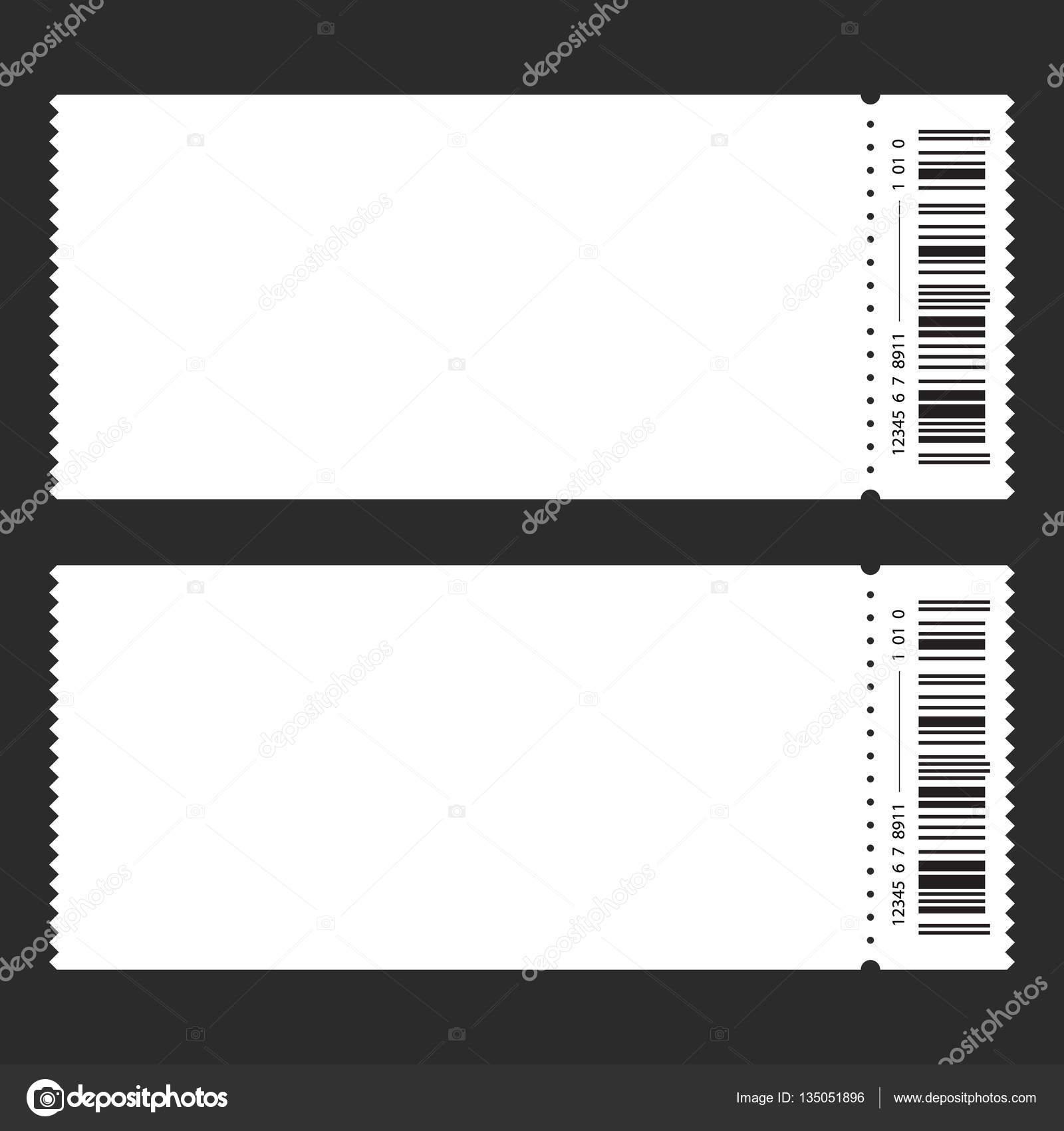 Ticket-Vorlage-Barcode. Vektor — Stockvektor © kagge229.gmail.com ...