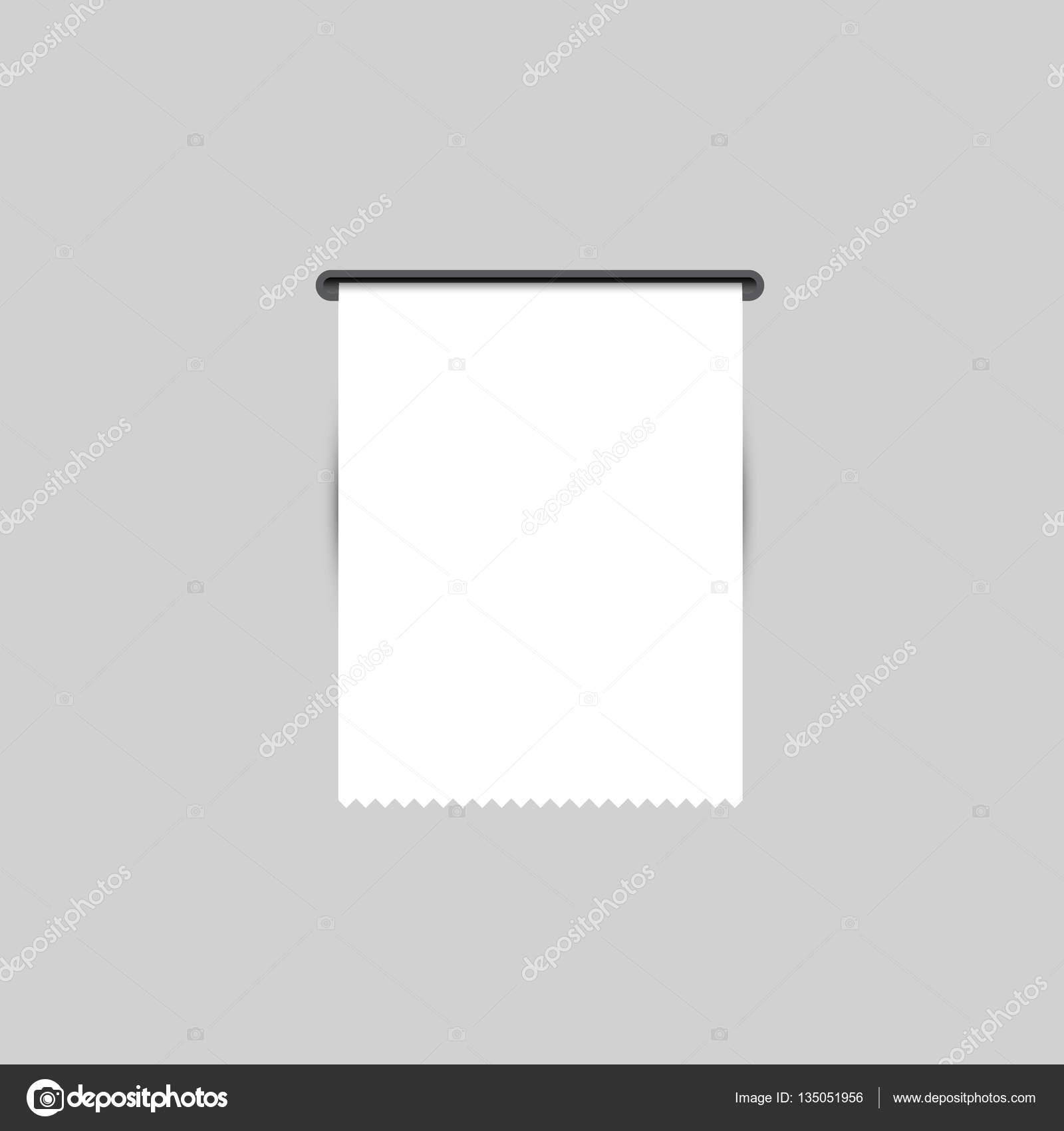 Kaufbelegs. Die gedruckten Beleg. Vektor — Stockvektor © kagge229 ...