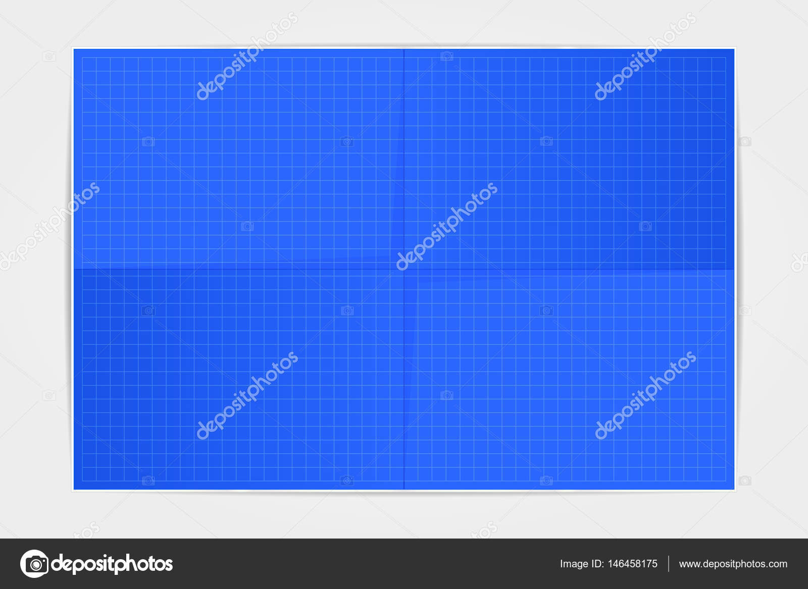 Template blueprint sheet of paper folded in four on a white back template blueprint sheet of paper folded in four on a white back stock vector malvernweather Images