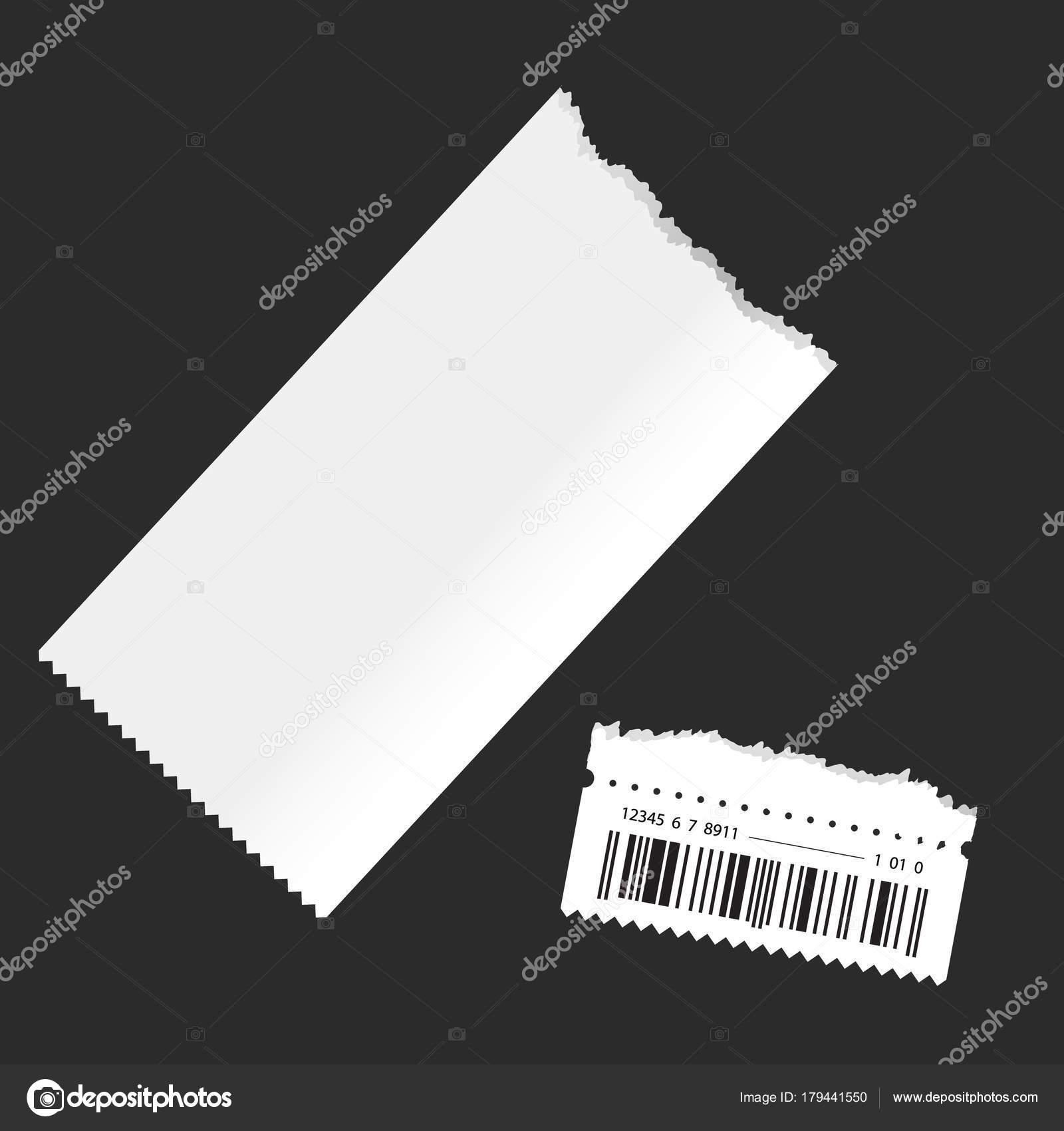 Ticketvorlage. auf einem transparenten Hintergrund isoliert ...