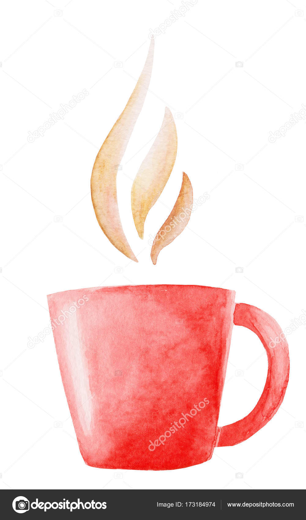 Watercolor Coffee Mug Illustration Isolated Illustration For Design Print Or Background Stock Photo Image By C Masanyanka 173184974