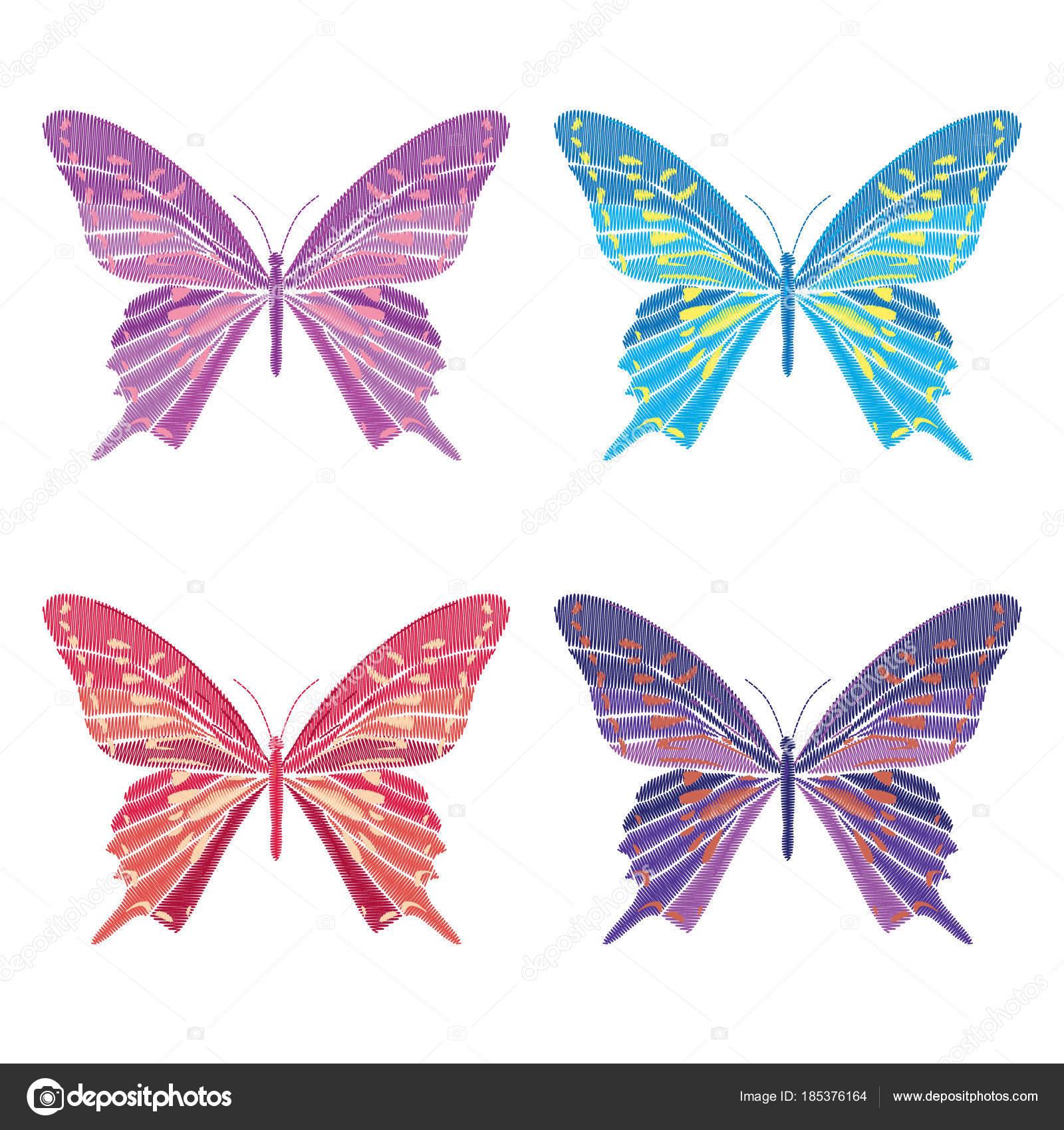 Dibujos: maripòsas a lapiz | Set colección de mariposas aisladas ...