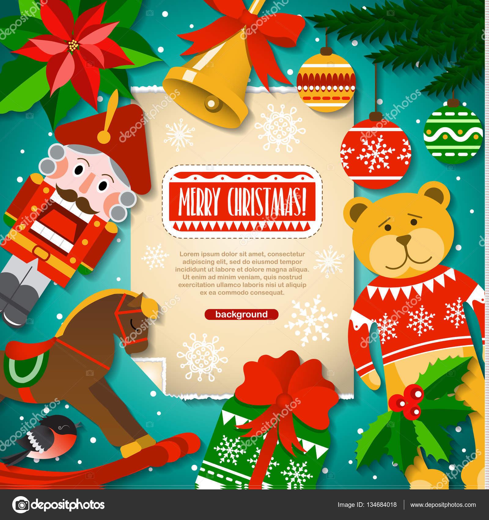 Weihnachten Hintergrund Weihnachten Elemente, Spielzeug ...