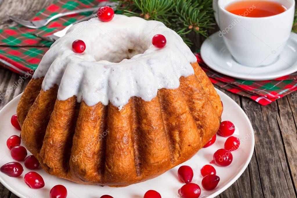 köstliche hausgemachte Weihnachten Kuchen, close-up, Ansicht von ...