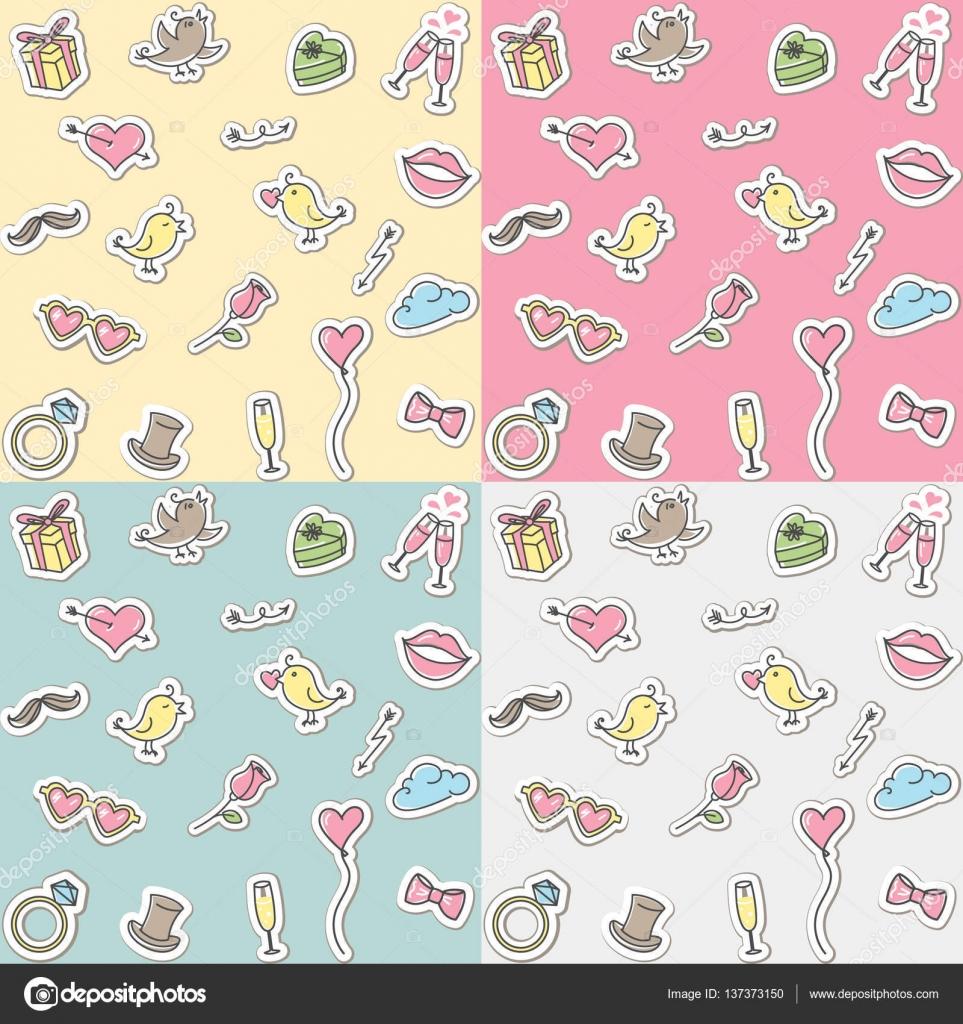 Valentines day or wedding seamless pattern love symbols signs valentines day or wedding seamless pattern love symbols signs icons cute romantic buycottarizona Images