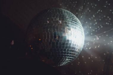 Close up of disco ball