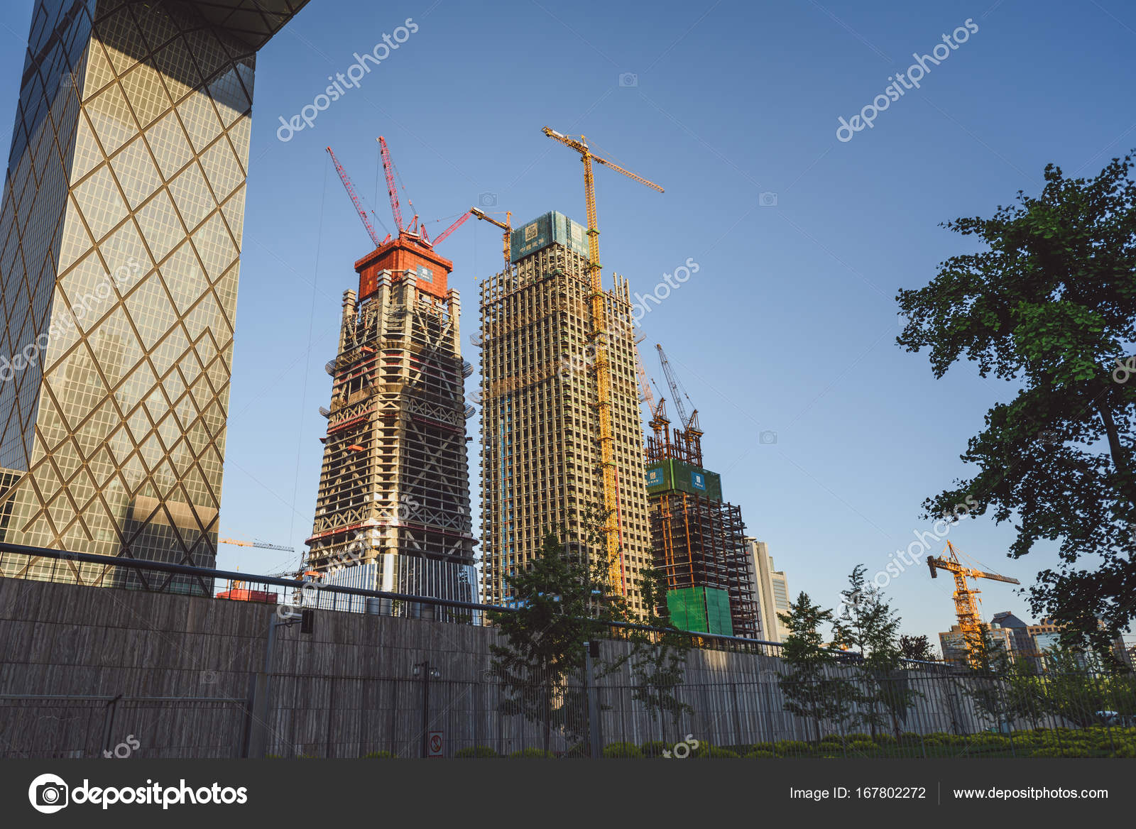 Modern Architecture In Beijing China Stock Editorial Photo