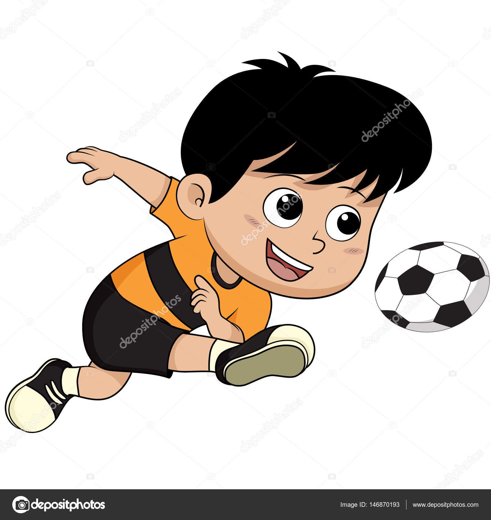 niño de dibujos animados Futbol — Archivo Imágenes Vectoriales ... 19810135f6a9f