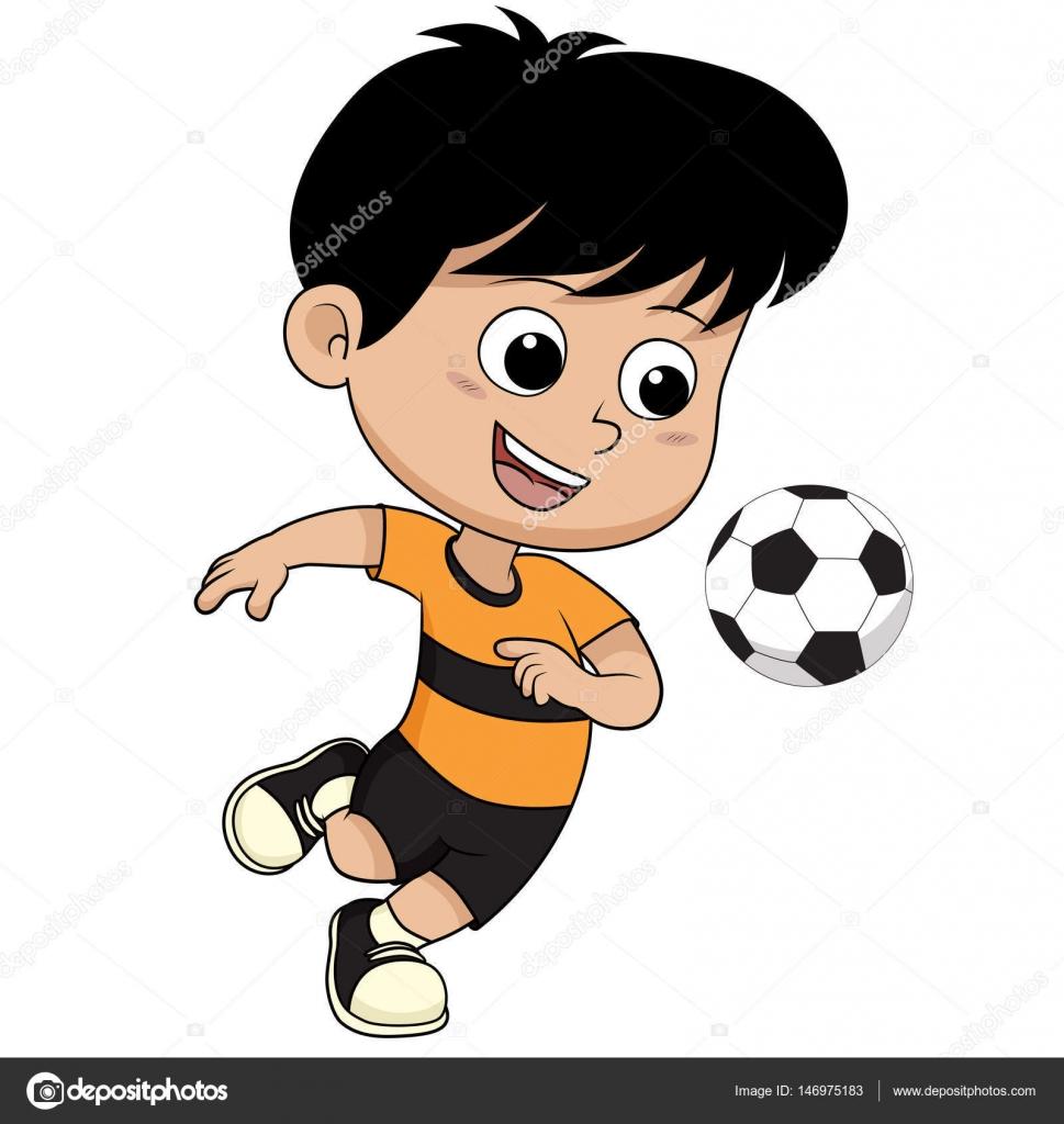 Cartoon voetbal kid — Stockvector © eempris.hotmail.com ...