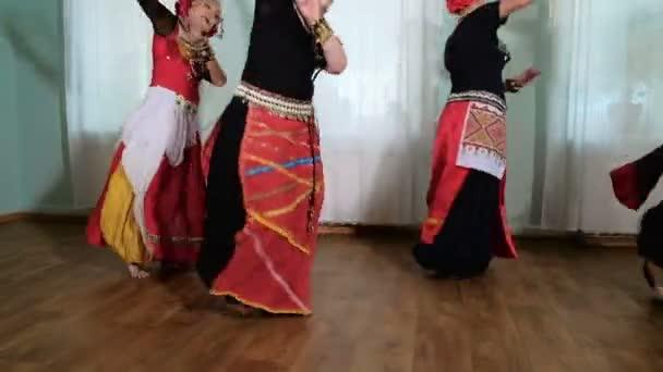 beautiful Tribal Fusion woman. costume of ethnic dancer. veru
