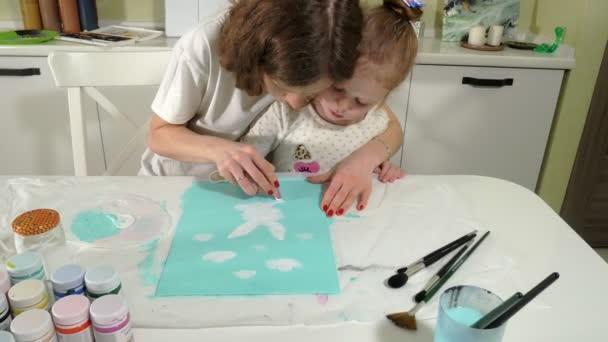 Anne Ve çocuk Boya Ile Renkli Parmak Oyunlar çocuklu Erken