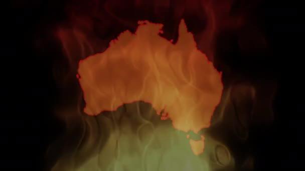 Brände in Australien. Video in Motion Vektor Illustration.