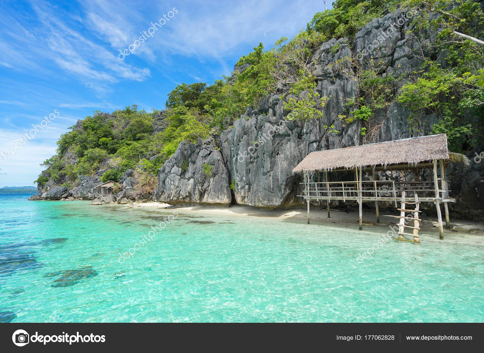Landscape Tropical Island Coron Island Palawan Philippines