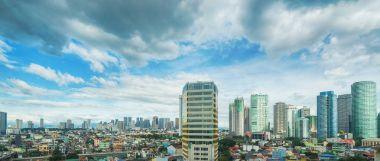 Panorama of Makati, Manila, Philippines.