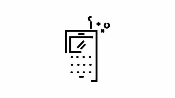 Obraťte se na Symbol s starý mobilní telefon 2d animaci ikony obrys