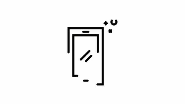 Mobilní telefon 2d animaci ikony obrys