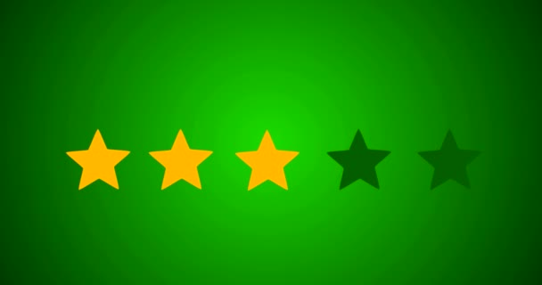 5 Star Rating Bestseller Symbol Given By Business Man Hand Sweeping In 2D Animation With Green Background