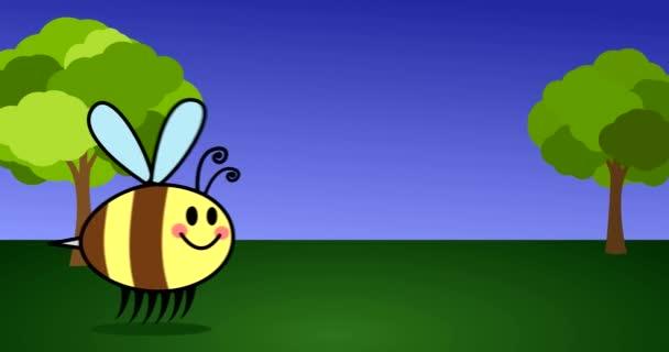 Tlustý Bee nebo Hummingbee letí přírodní Kreslená animace pro děti