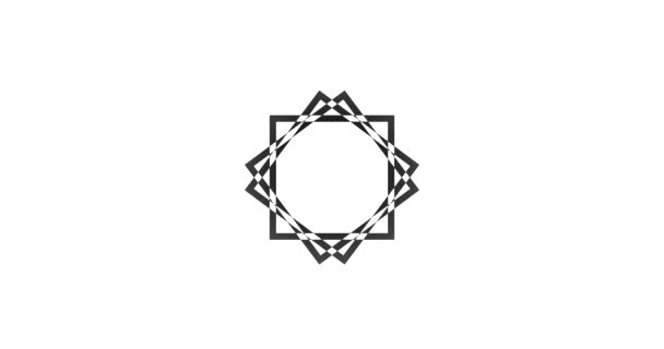 Mandala abstracto animación de fondo mínimo de formas con lugar para ...
