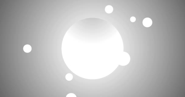 Liqiud Blobs fallen aus leeren Kreis mit Platz für Logo-Animation Video weiß auf silber