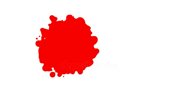 Krevní drmolit rostoucí Intro vykreslení ploché vektorové animace