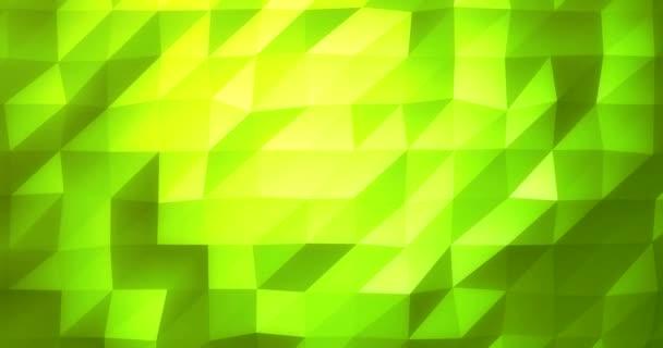 Low Poly zářící geometrické 4 k pozadí jako tavené animace Video v jarní zelená