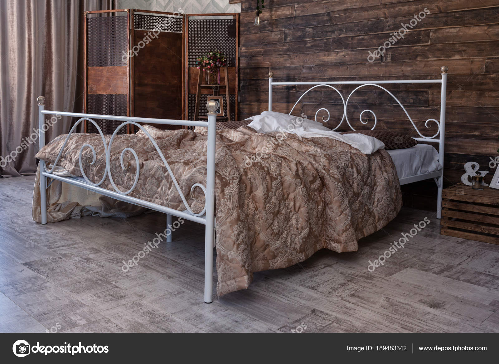 Schmiedeeisen Bett Stockfoto C Alfoto Bk Ru 189483342