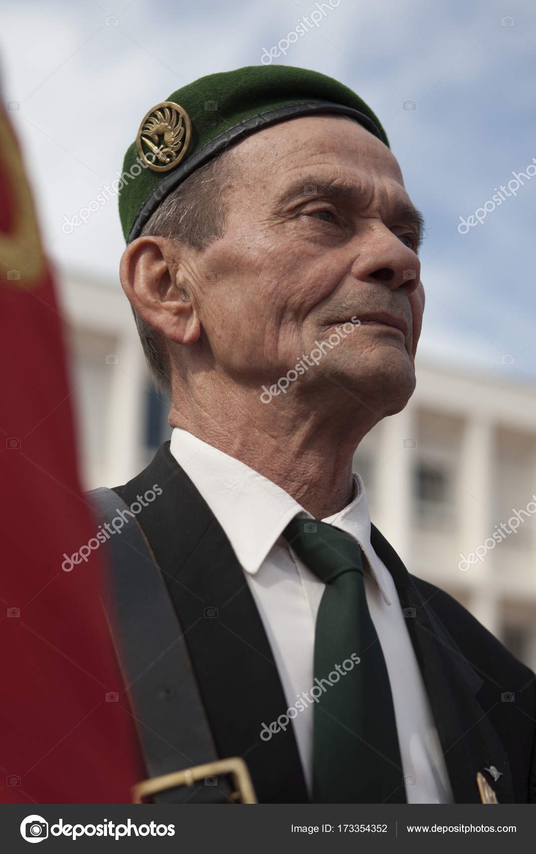Aubagne France May 11 2012 Portrait Of A Veteran Of The French