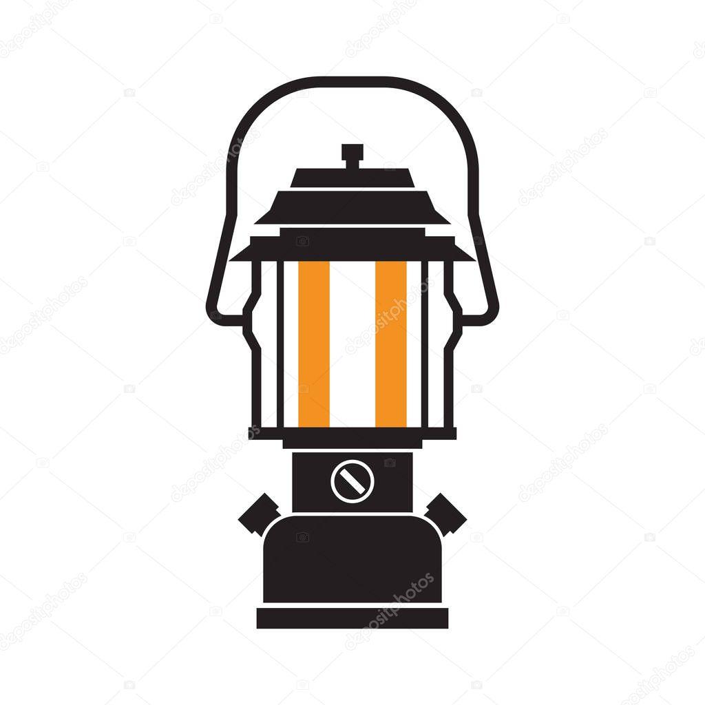 キャンプのランタンやガス灯 ストックベクター Krugli86 At Gmailcom