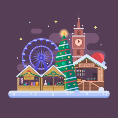 Europe Christmas Fair Background