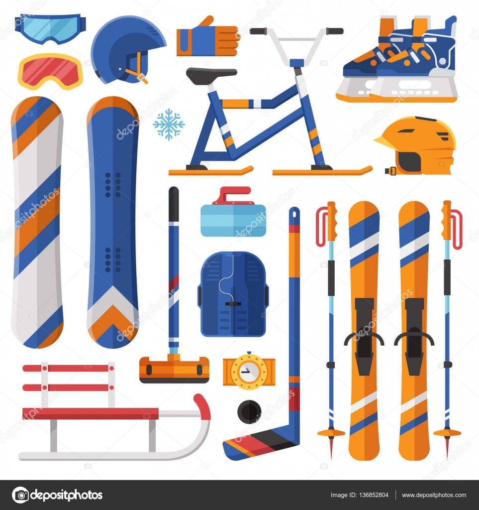 Zimní sportovní vybavení a zařízení — Stock Vektor © krugli86 gmail ... 2c7f8a5cfe6
