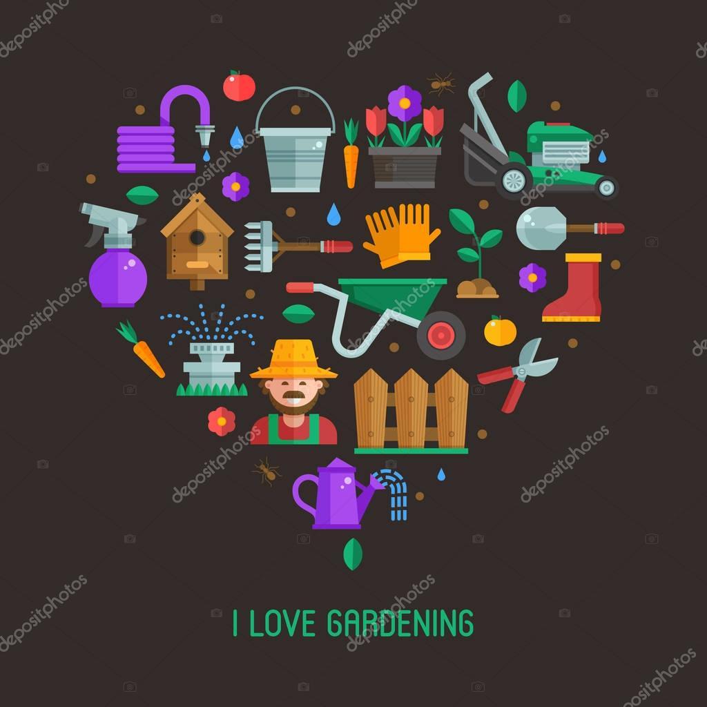 I Love Gardening Card