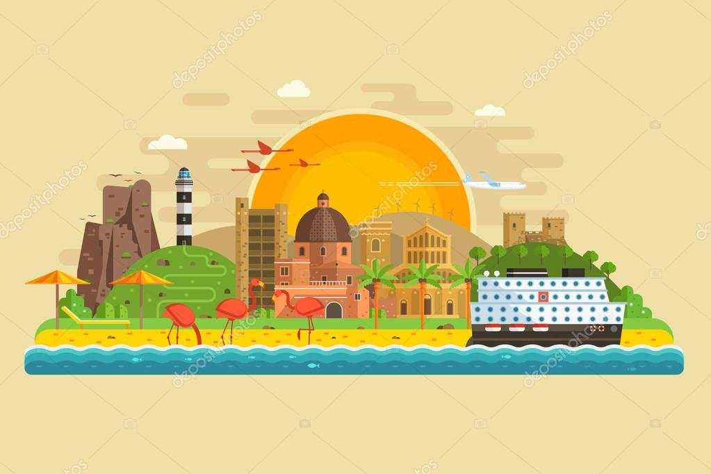 Summer Travel Island Landscape