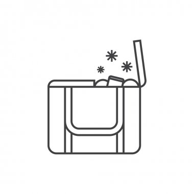 Beach Freezer Bag or Lunch Box Icon