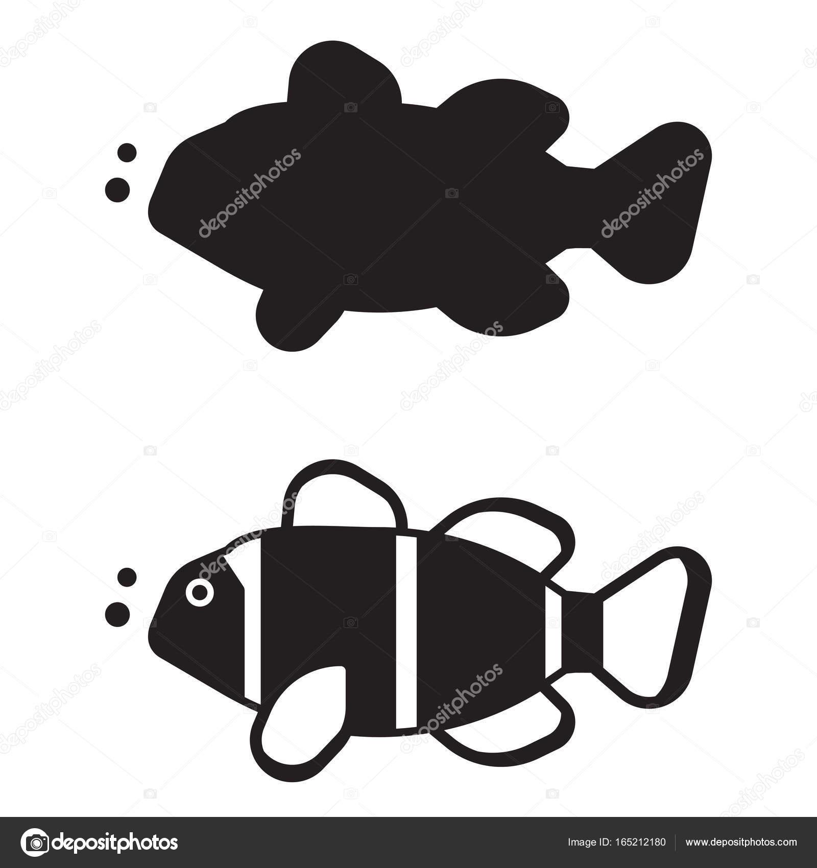 Clownfisch-Übersicht-Symbol oder Logo — Stockvektor © krugli86@gmail ...