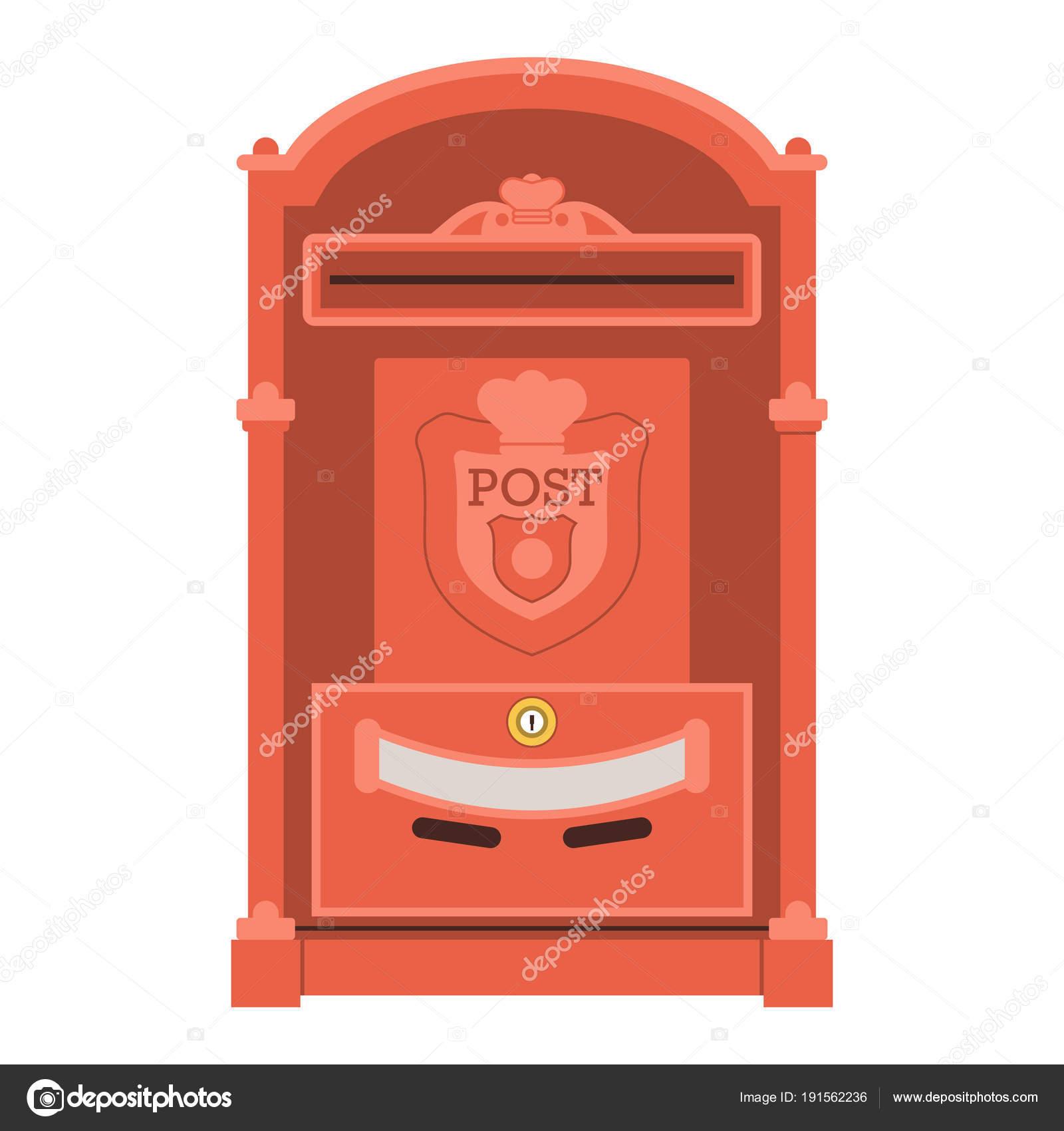 Vintage Rouge Boite De Message Ou De L Icone De Boite Aux Lettres