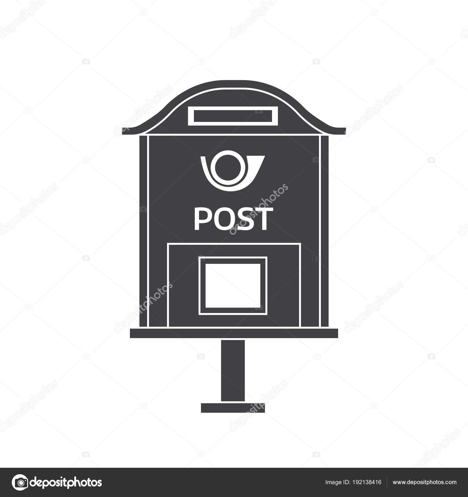 mail letter box outline icon stock vector krugli86 gmail com