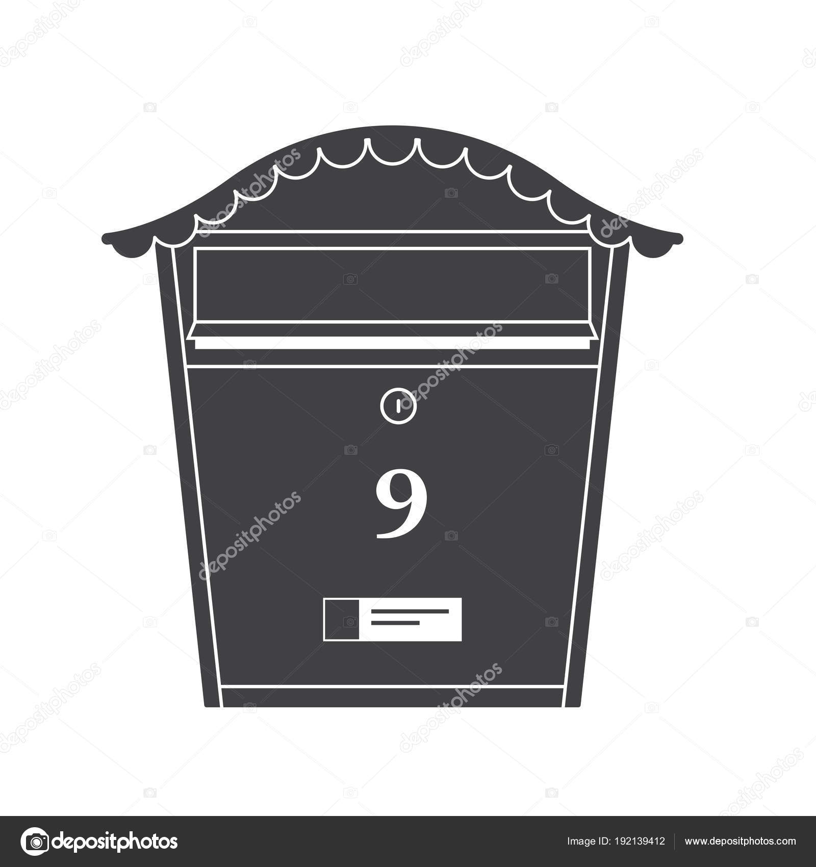 Mail Box Outline Icon Stock Vector Krugligmailcom - Mailbox label template