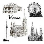 Vídeň - ručně kreslenou bildings kolekce
