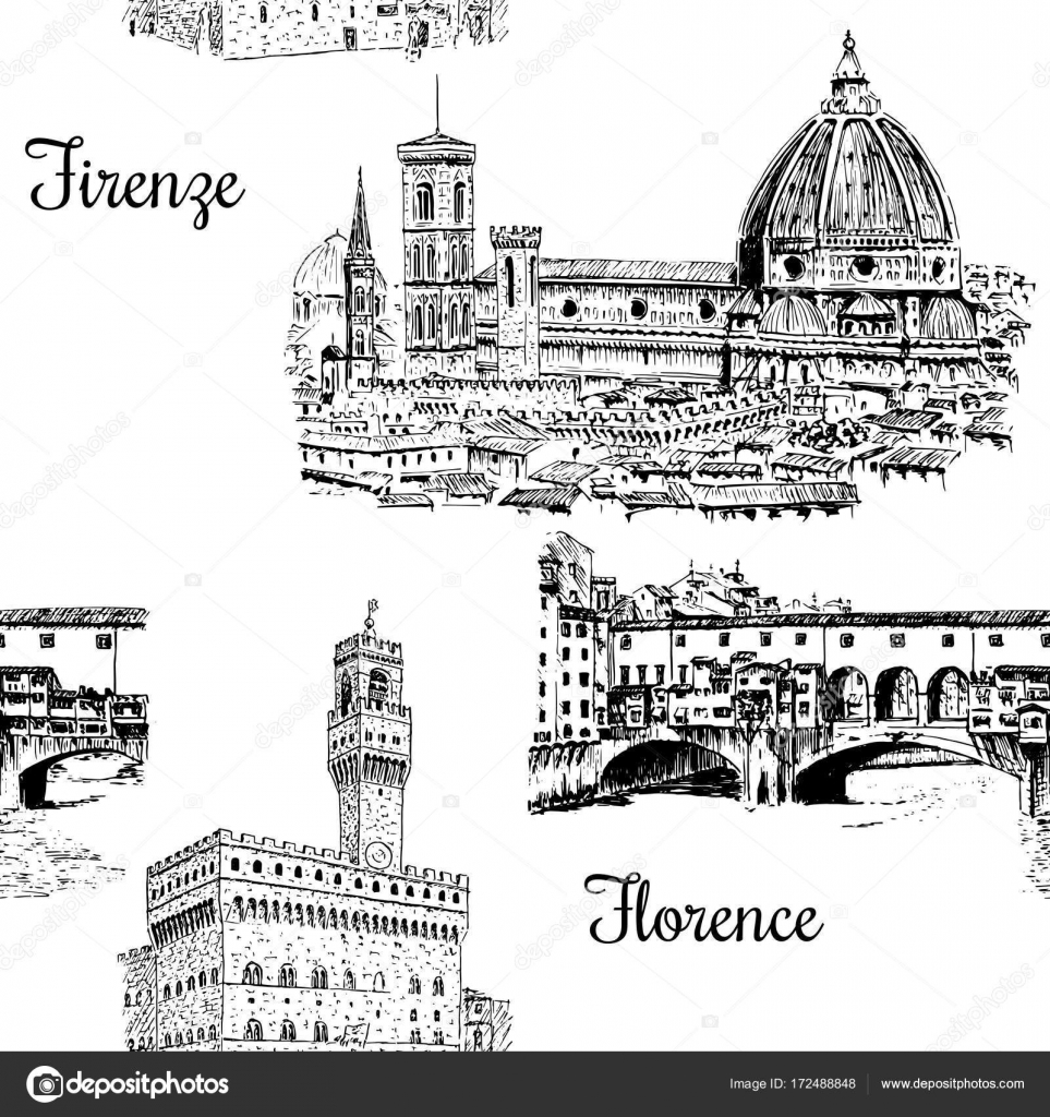 Conjunto de Florencia símbolos vector conjunto de patrones sin ...